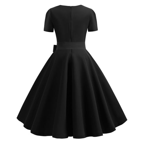 Black Button-up Vintage Dress