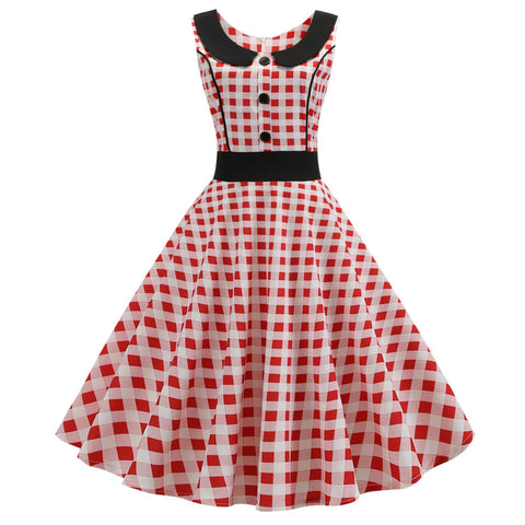 red and white plaid vintage dress