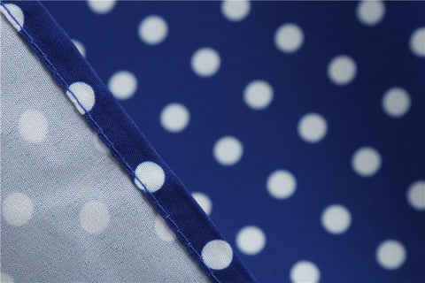 Blue Polka Dot Vintage Dress