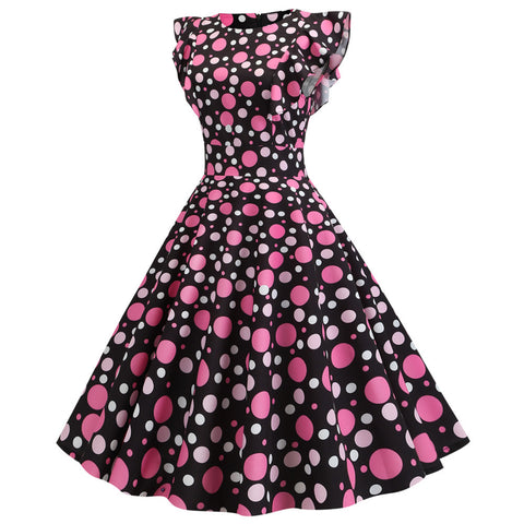 Black Dot Vintage Dress