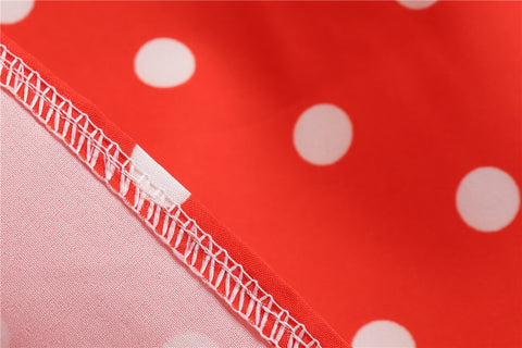 Red/Orange Polka Dot Vintage Dress