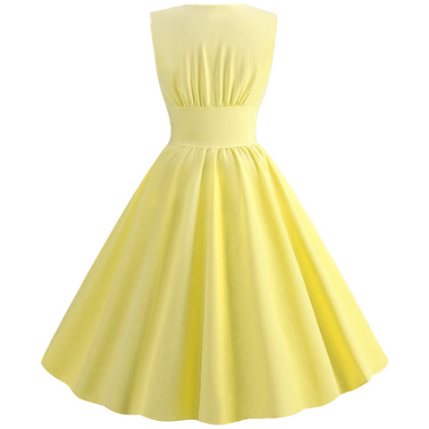 Yellow Button-up Vintage Dress
