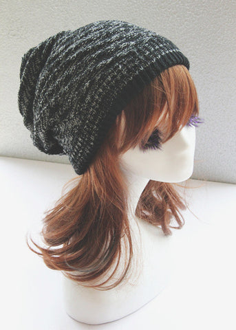 Black and White Double Side Slouchy Hat