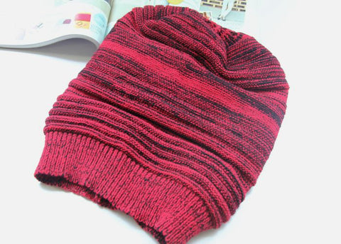 Red  and Black Slouchy Hat