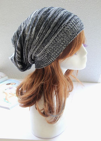 Black and White Slouchy Hat