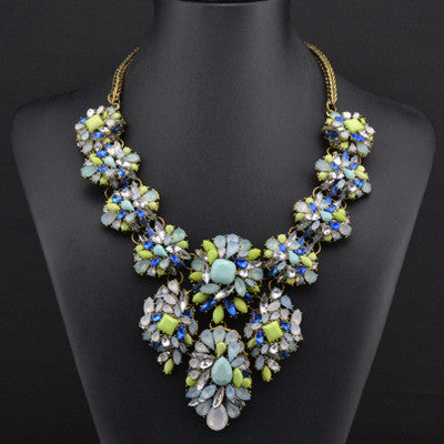 Blue Statement Necklace Jewelry