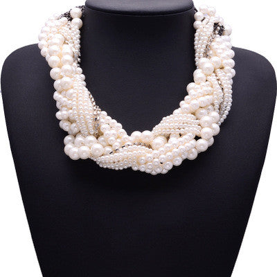 Plastic Pearl Chunky Necklace Jewelry