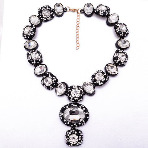 White Statement Necklace Jewelry