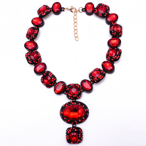 Red Statement Necklace Jewelry