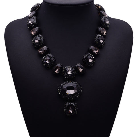 Black Statement Necklace Jewelry