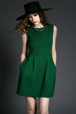 Green Beaded Dress