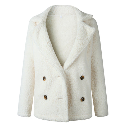 White Faux Fur Coat Jacket