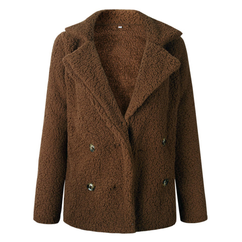 Brown Faux Fur Coat Jacket