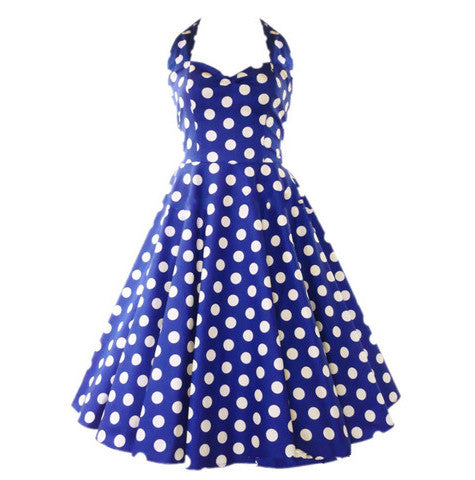 Blue Polks Dot Vintage Dress