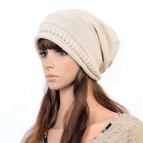 Beige Knitted Hat
