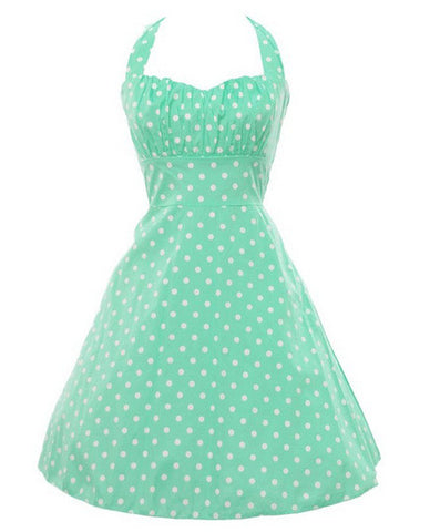 Palka Dot Mint Vintage Dress