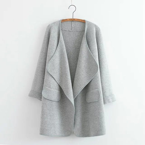 Long sweater cardigan in Gray