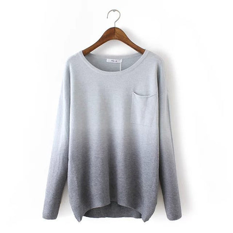 Gray Sweater in Gradient Color