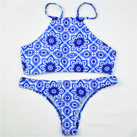 Floral Swimsuit Swimwear Bikini Set