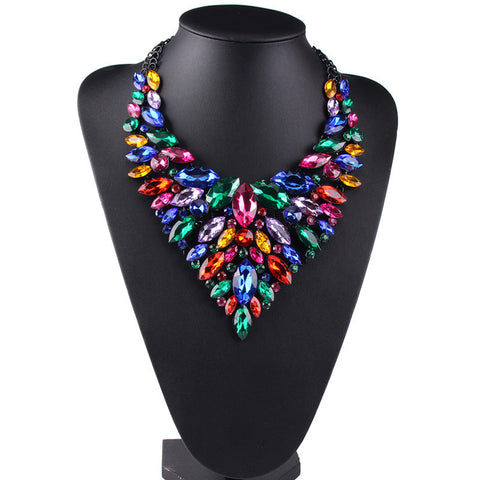 Colorful Statement Necklace Jewelry