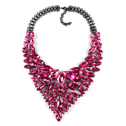Pink Statement Necklace Jewelry