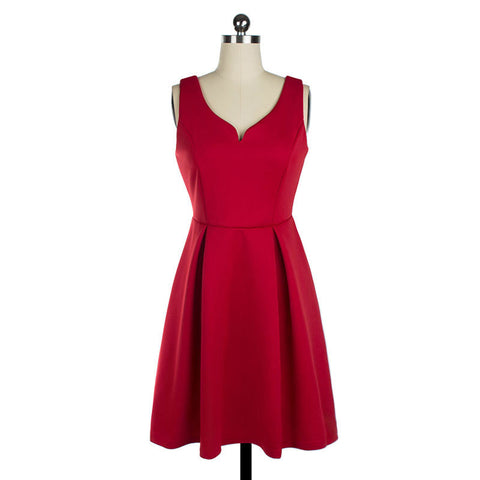 Red Sexy Mini Vintage Dress