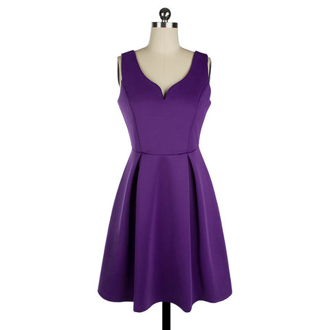 Purple Sexy Mini Vintage Dress