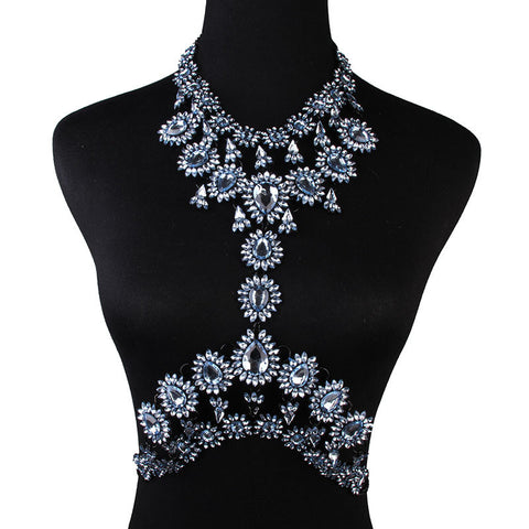 Blue Statement Body Chain Jewelry