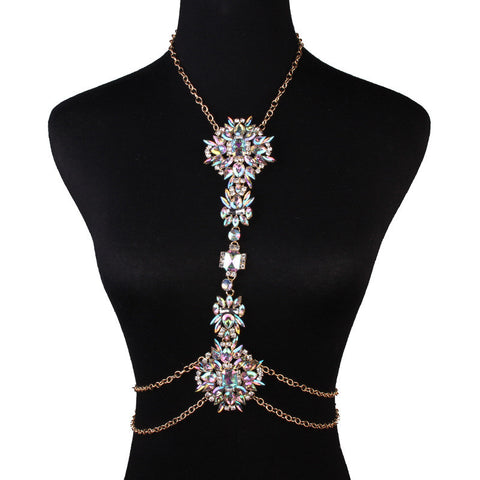Colorful Statement Body Chain Jewelry