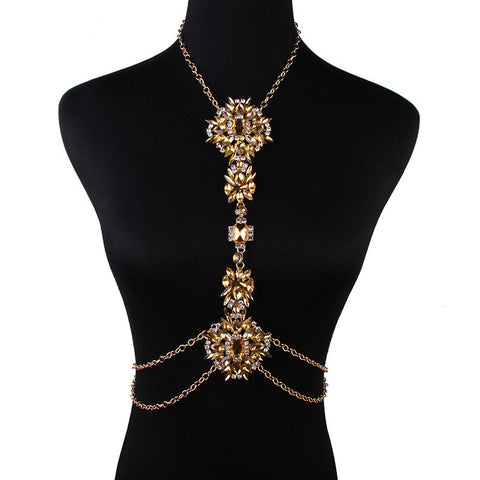 Golden Statement Body Chain Jewelry