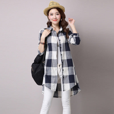 Black And White Squares Long Shirt