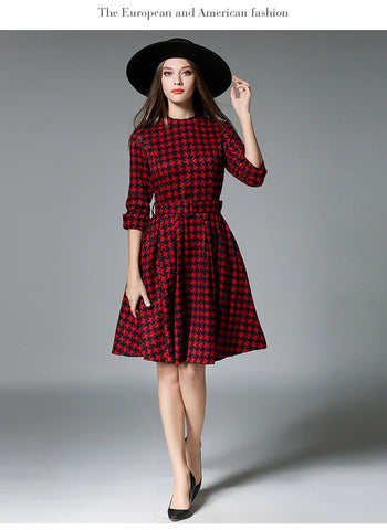 Red Long Sleever Dress