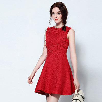 Red Lace mini Dress