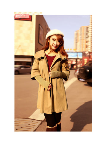 Coat Outerwear Jacket in Camel