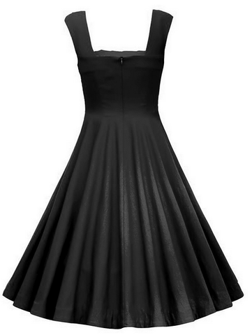 Black Halter Vintage Midi Dress