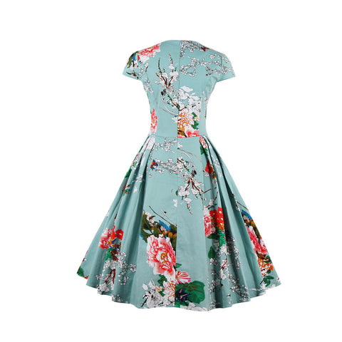 Light Blue Floral Vintage Dress