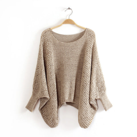 Bet Wing Sweater in Beige