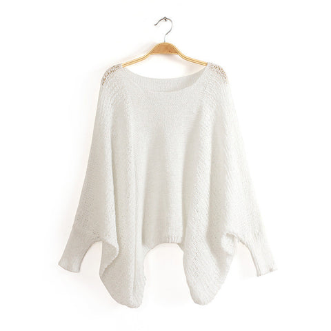 Bet Wing Sweater in White