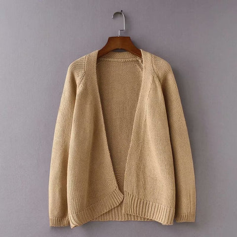 Loose V-Neck Sweater Cardigan