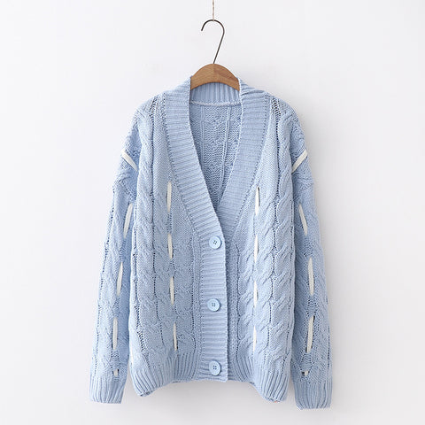 Cabled Cardigan Sweater