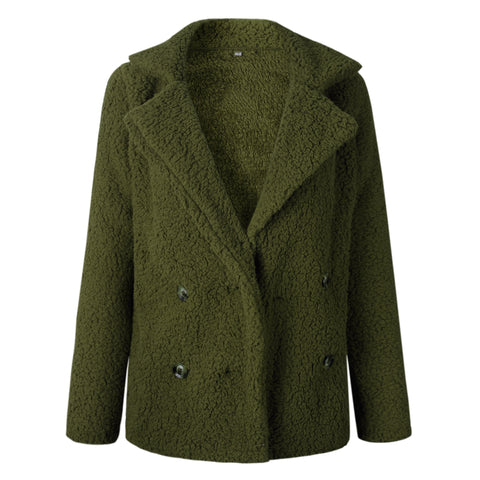 Green Faux Fur Coat Jacket