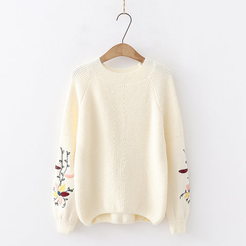 Embroidered pullover Sweater