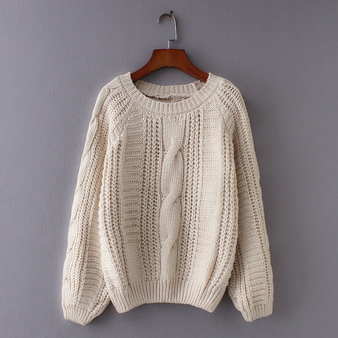 Knitted Cabled Sweater