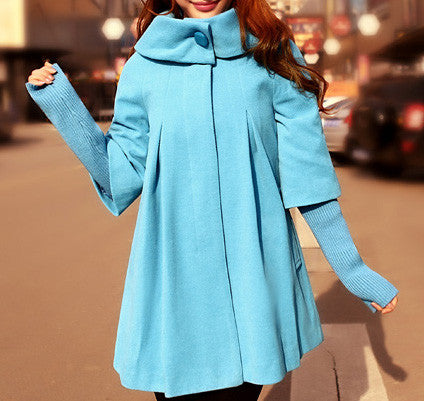 Coat Outerwear Jacket in Blue