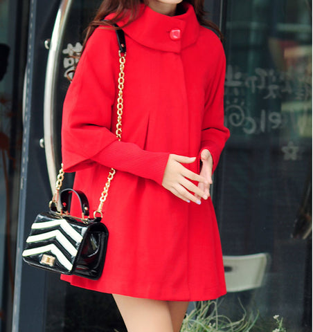 Coat Outerwear Jacket in Red