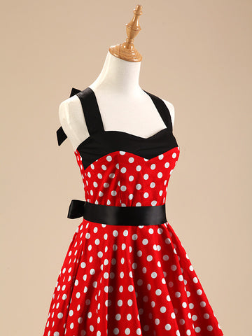 Black and Red Polka Dot Vintage Dress