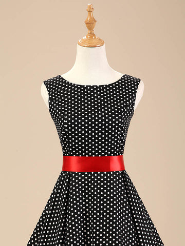 Copy of Black and White Polka Dot Vintage Dress
