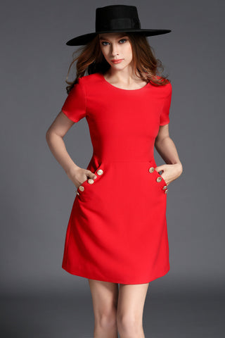 Cocktail Dress in Red