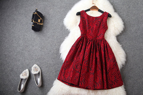 Lace Dress in Red