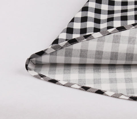 Black and white Plaid Vintage Dress